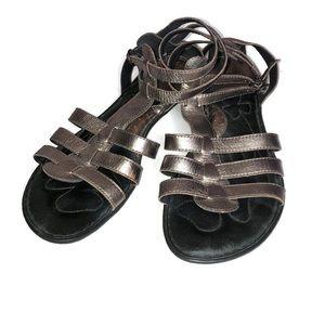 Born Gold/Bronze Gladiator Sandals Size 9